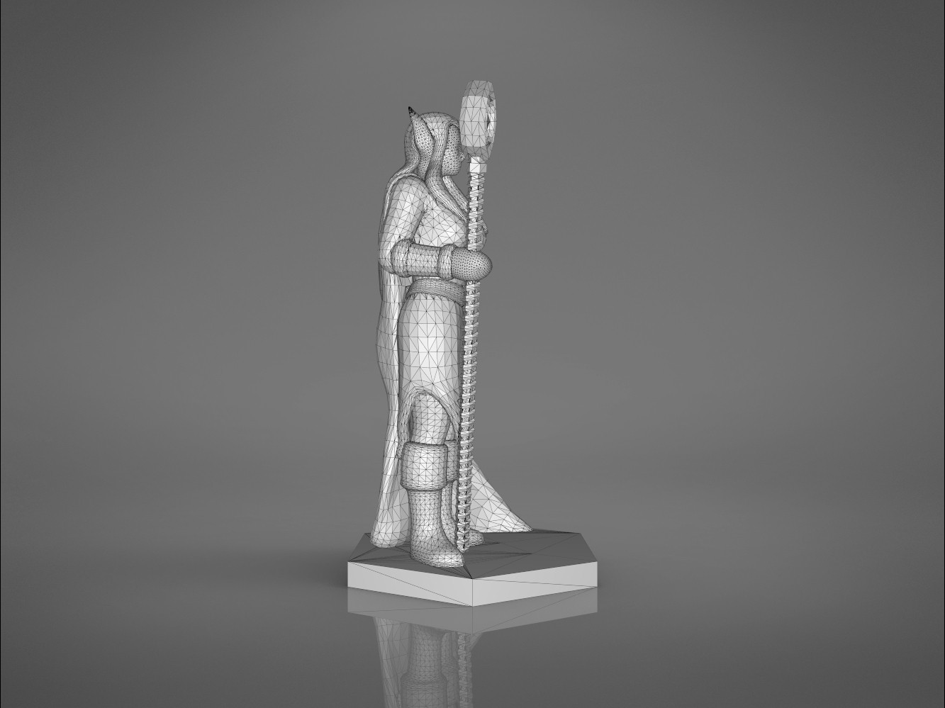 Mage_2_-left_perspective.173.jpg Download STL file ELF MAGE FEMALE CHARACTER GAME FIGURES 3D print model • 3D printing template, 3D-mon