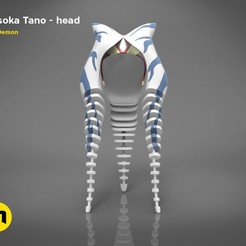 render_ahsoka_tano_colored.100.jpg Télécharger fichier STL Casque Ahsoka Tano • Plan à imprimer en 3D, 3D-mon