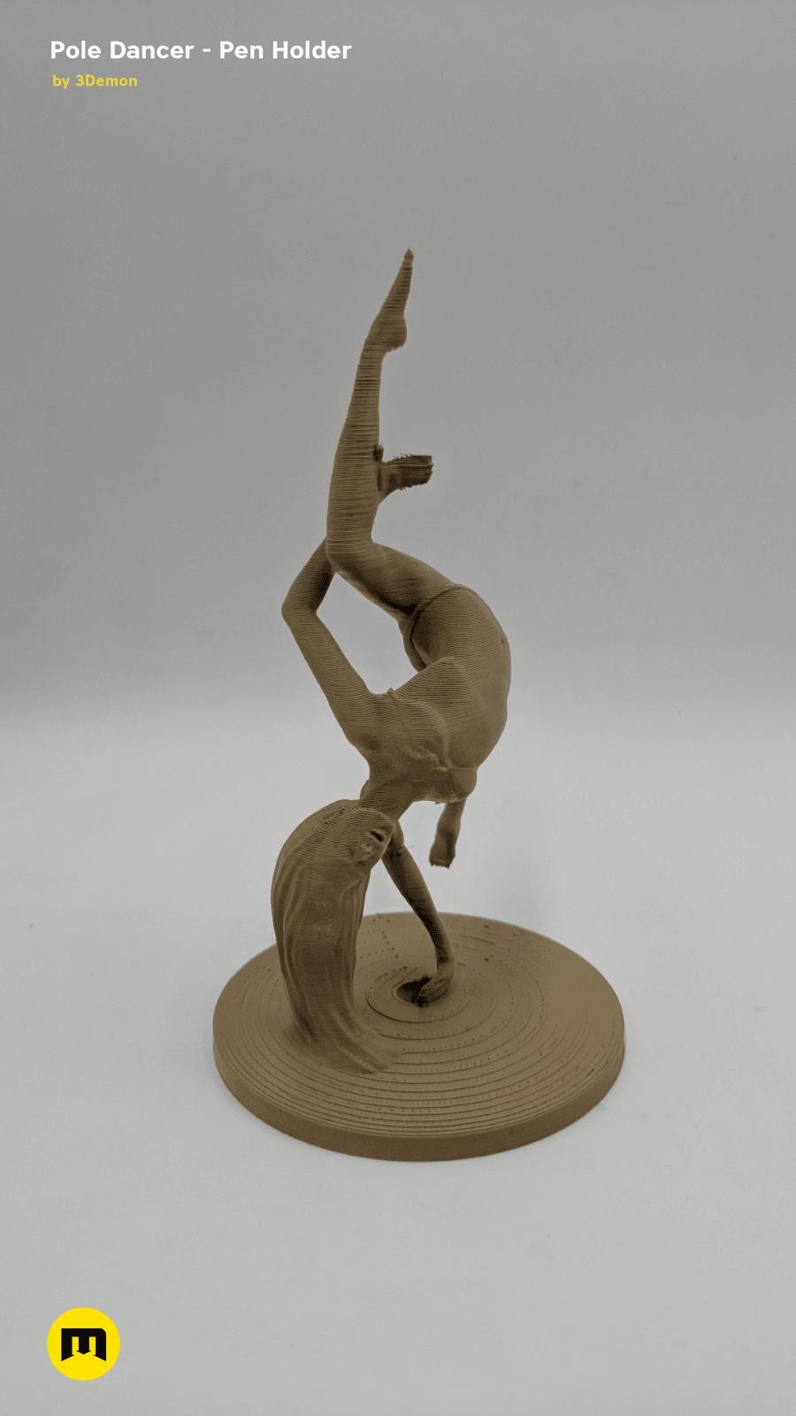 IMG_20190219_154845.png Download STL file Pole Dancer - Pen Holder • Object to 3D print, 3D-mon