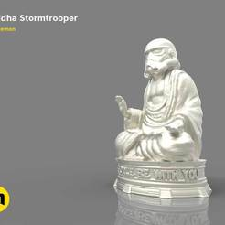 Download 3D printing templates Buddha Stormtrooper, 3D-mon