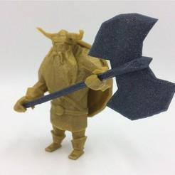 Free 3D print files Lowpoly Viking, 3D-mon