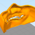 Снимок4.PNG Download free STL file Samurai Mask • 3D print template, MrDetrout