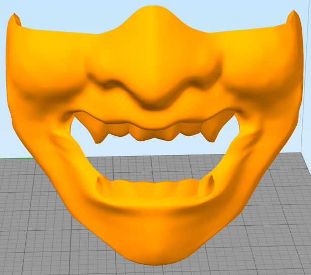 Снимок5.PNG Download free STL file Samurai Mask • 3D print template, MrDetrout