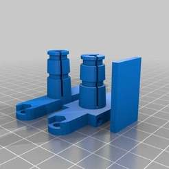 Download free STL files Modified Rostock Bowden Clamp for 1.75mm and MakerGear Hotends w/Zipties, adamjvr