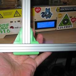 Descargar modelos 3D gratis 2020 Extrusión de Aluminio Soporte Perpendicular de Dos Vías, adamjvr
