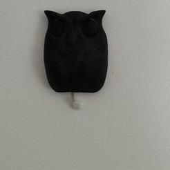 Download STL file Owl - Wall Key Holder • 3D printing model, ecelo