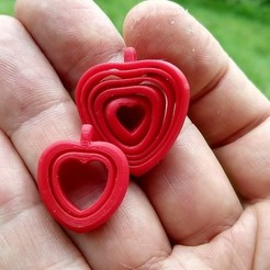 Free 3D printer designs Two hearts - Two hearts bound, pauloblank
