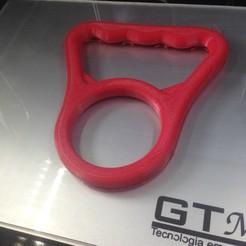 IMG_2288.JPG Download STL file Water bottle handle Carrier • 3D printable template, Sagaria
