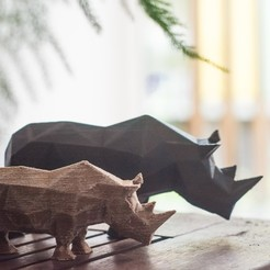 Fichier 3D Low Poly Rhino, LowPolyAddict