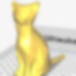 Modèle 3D Low Poly Cat, LowPolyAddict