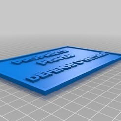 propriété privée.jpg Download STL file Private property - Sign - • 3D printer template, sebydjay