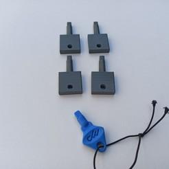 1599989423357.jpg Download STL file Imbalpaper - Imbalpaper Paper Dispenser Key • Design to 3D print, sebydjay