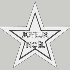 """STL file Cookie Cutter - Star """"Merry Christmas"""", 3ID"""