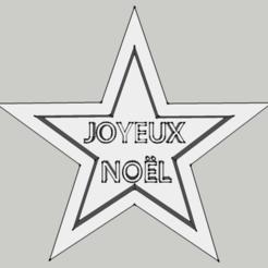 "Télécharger objet 3D Emporte pièce - Etoile ""Joyeux Noel"", 3ID"