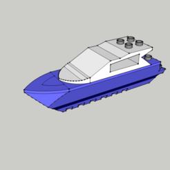 Fichier 3D Lego - Boat - Bateau - Duplo, 3ID