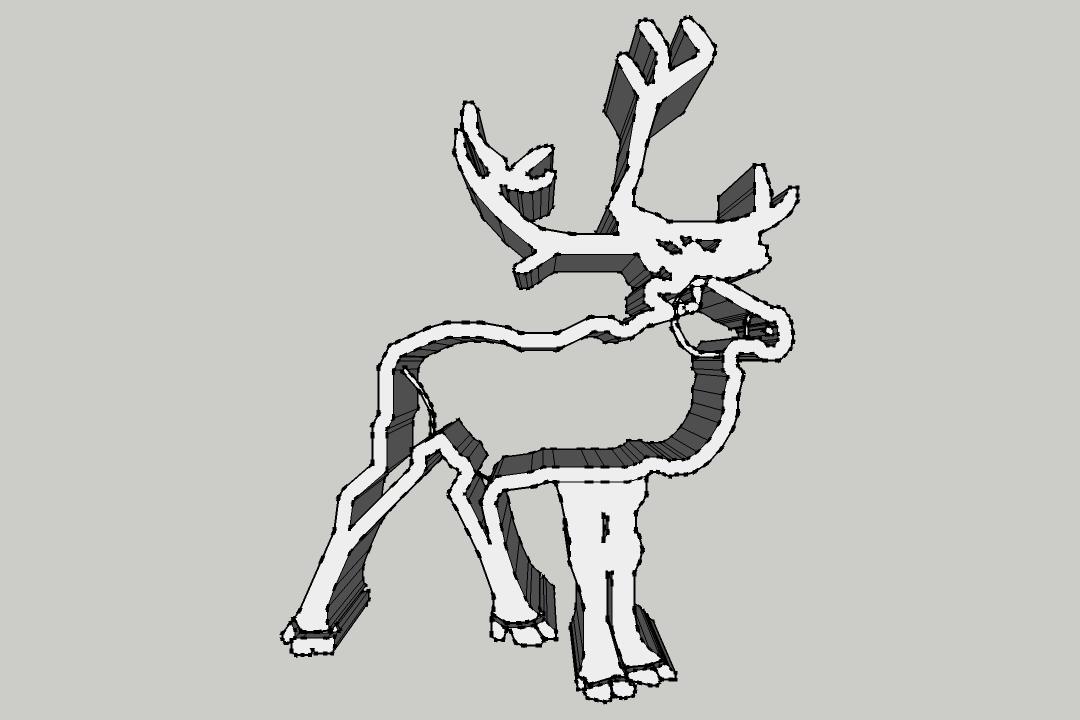 Renne.png Download STL file Cookie Cutter - Reindeer / Take away piece reinder • 3D printer model, 3ID
