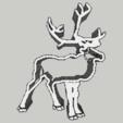 STL file Cookie Cutter - Reindeer / Take away piece reinder, 3ID