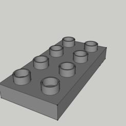 Fichier imprimante 3D Lego duplo - Pièce 8x Fin, 3ID
