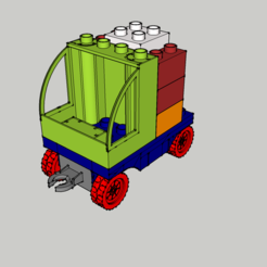 Lot - Camion 1 -.png Download STL file Lego duplo - Truck - Truck - • 3D printable design, 3ID