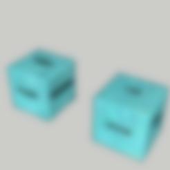 Diseños 3D Dice - traviesa / par de juegos, 3ID