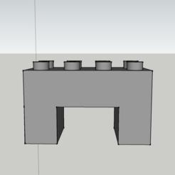 Fichier 3D Pièce de jeu Lego duplo modéle Type tunnel plat, 3ID