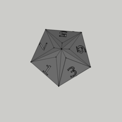 Download 3D printing models Dice - 10 Faces / Dice 10 Faces, 3ID