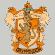 3D printer file Harry Potter - Necklace / Gryfondor Pendant, 3ID