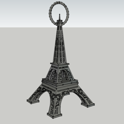 Tour Eiffel - Avec attache.png Download STL file Eiffel Tower - Earring • Design to 3D print, 3ID