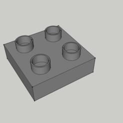 Fichier imprimante 3D Pièce de jeu Lego duplo modéle Type 4x - Fin, 3ID