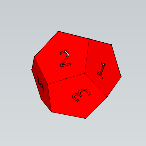 Modèle 3D Dé - 12 Faces, 3ID