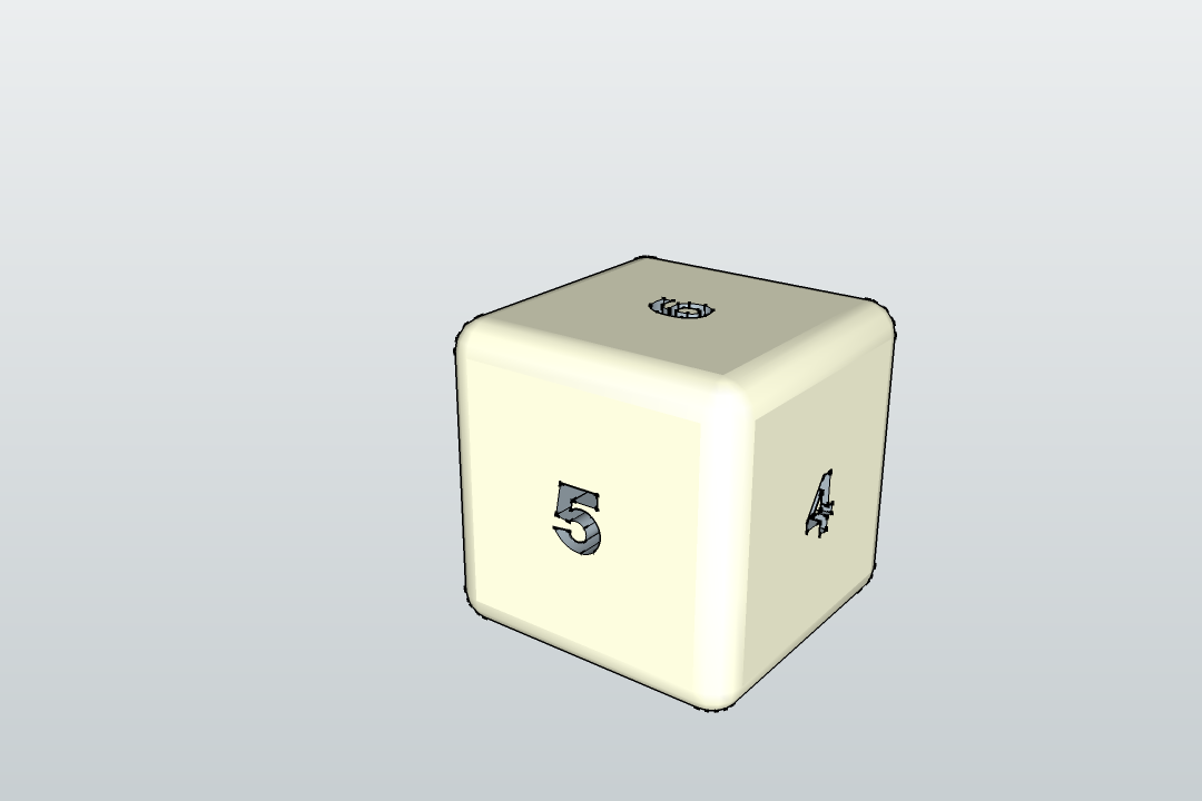 Dé.png Download free STL file De - Dice • 3D printer template, 3ID
