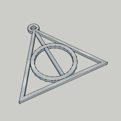 Harry Potter - reliques de la mort - deathly hallows.png Download STL file Pendant - Harry Potter - Deathly Hallows - The Deathly Hallows • Model to 3D print, 3ID