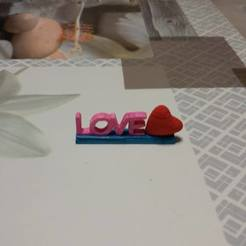 Télécharger fichier STL support love avec coeur, pascal02700