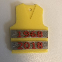 Download free 3D printer templates small souvenir for the yellow vests, JBART
