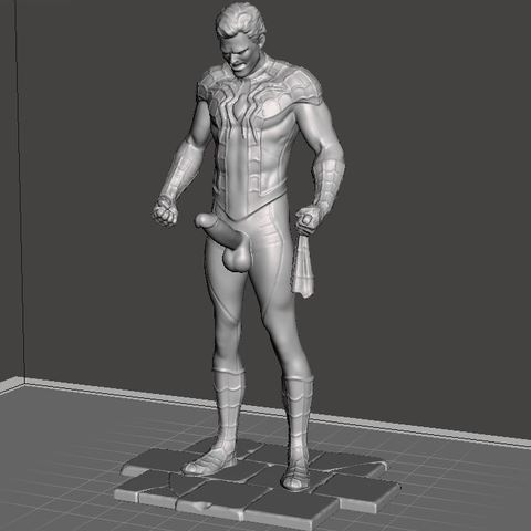 Download free 3D printer designs Printable Spiderman remix with cock, nicolazy