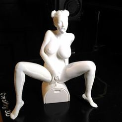 Modèle 3D Naked girl ride sexmachine PRINTABLE, nicolazy