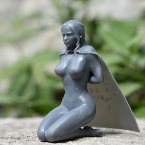 Download 3D printing files Daenerys Targaryen mother of dragons Naked Games of Thrones, nicolazy