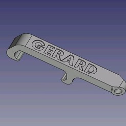 Download 3D printing templates Pocket bottle opener GERARD, dsf