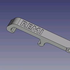 Download STL file REMI pocket bottle opener • 3D printing model, dsf