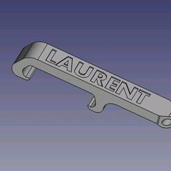 décapsuleur-Laurent.JPG Download STL file Laurent bottle opener • Template to 3D print, dsf