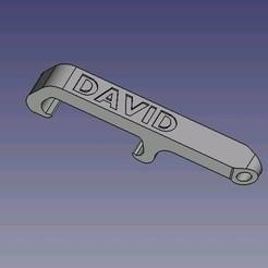 décapsuleur-David.JPG Download STL file DAVID pocket bottle opener • 3D printer model, dsf