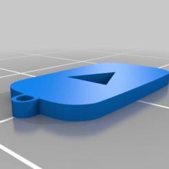 Descargar Modelos 3D para imprimir gratis Llavero con logo de Youtube, malix3design
