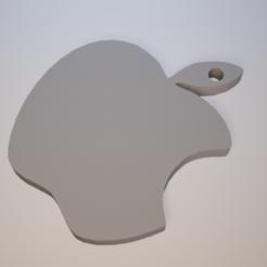 Imprimir en 3D gratis Logotipo de Apple - Llavero, malix3design