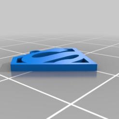 Descargar diseños 3D gratis Llavero con el logo de Superman, malix3design