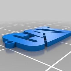 Impresiones 3D gratis Llavero con el logo de Caterpillar, malix3design