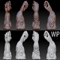 Free 3D printer model Monstrous Hand By Dantego, Dantego