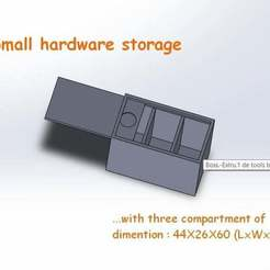 Download free STL file small hardware storage (test)(EN) • 3D printable template, TheFloyd