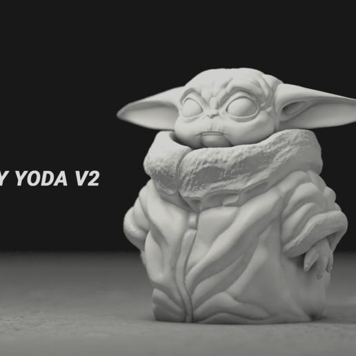 Download free 3D printing designs Baby Yoda, Lewj