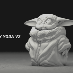 BY v002.png Download free OBJ file Baby Yoda • 3D printer template, Lewj