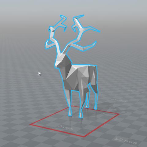 2017-07-11_17h05_38.png Download free STL file Lowpoly deer • 3D printer design, 0rion